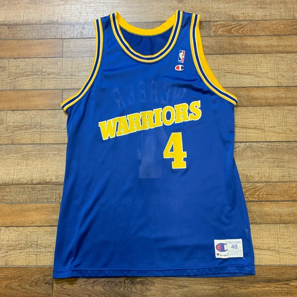 timeless design 8fc3c d14cd Chris Webber Golden State Warriors NBA Jersey 48